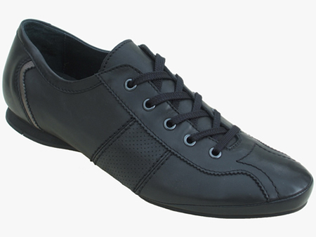 ADAM black mens leather dance shoes