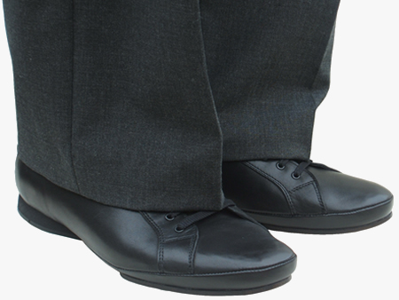 BEN black dance shoes with smart trousers