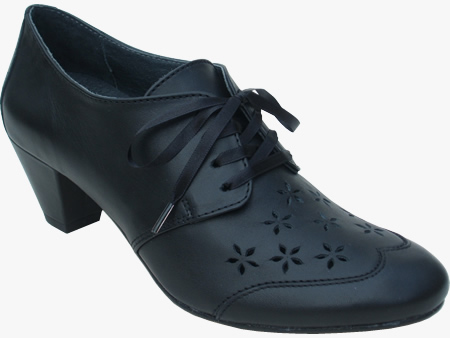 EVE womens dance shoe in black leather